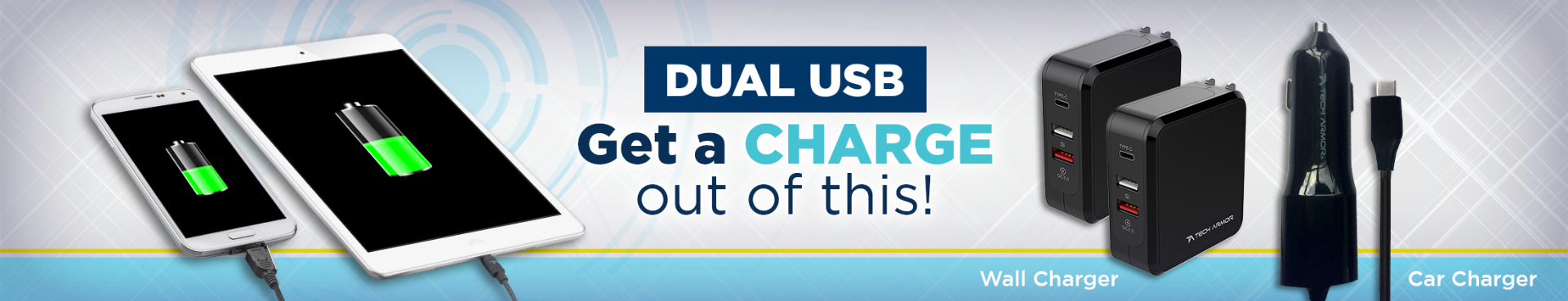 Dual USB Chargers
