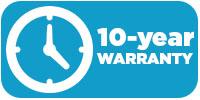 10-year warranty