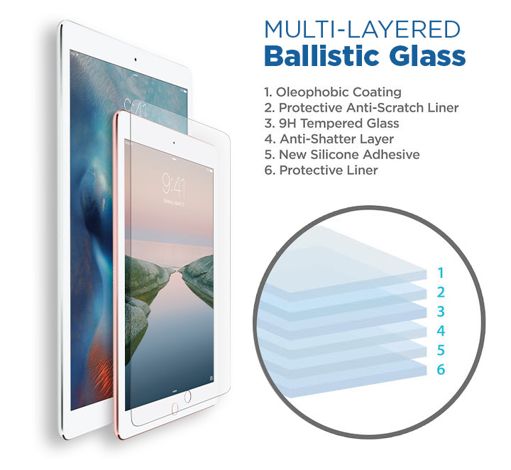 iPad Pro Layered Ballistic Glass Screen Protection
