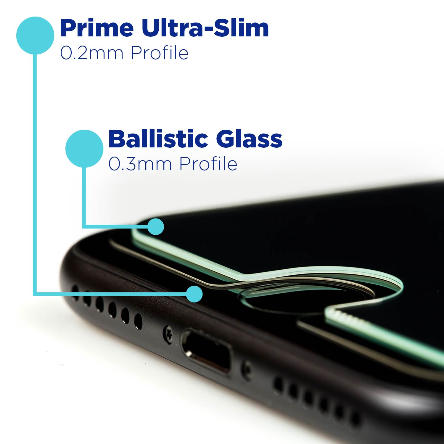 Tech Armor Prime Glass for iPhones are Ultra Slim